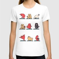 yoga T-shirts featuring Cat Yoga by Huebucket