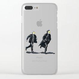 Swift Run (Sherlock and John) Clear iPhone Case