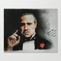 the godfather Canvas Prints featuring The Godfather by Tridib Das
