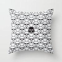 chad wys Throw Pillows featuring The Dark One by Davies Babies