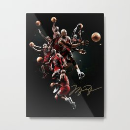 MichaelJordan Basketball ChicagoBulls the Legacy the Greatest of All Time Signed Photo Autograph Reprint Poster Metal Print