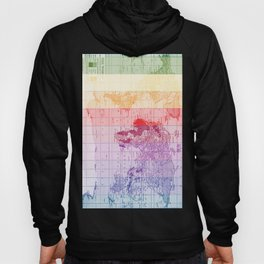 Rainbow World Map Hoody