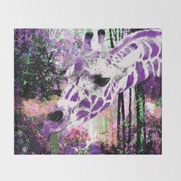 GIRAFFE FANTASY ENCOUNTER FOREST DREAM Throw Blanket