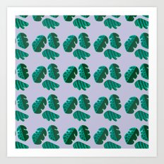 Monster tropical plants Art Print