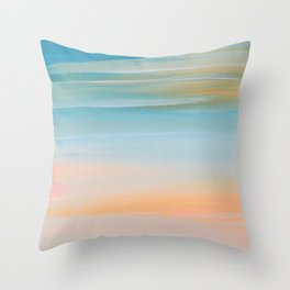 Fresh Colors Painterly Abstract Throw Pillow