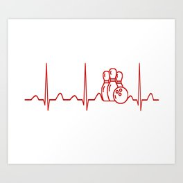 BOWLING HEARTBEAT Art Print