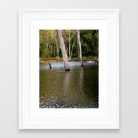 rowing Framed Art Prints featuring Rowing by Emily Jane.