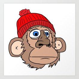 Monkey Mountaineer Art Print