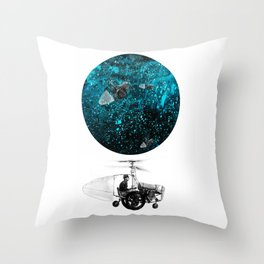 walk in space Throw Pillow