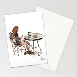 Coffee in Rice Village Stationery Cards