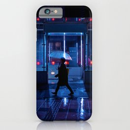Rain over Neo Tokyo iPhone Case