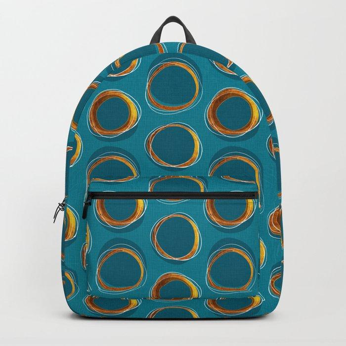 Solar Eclipse MCM Gold-Blue Backpack