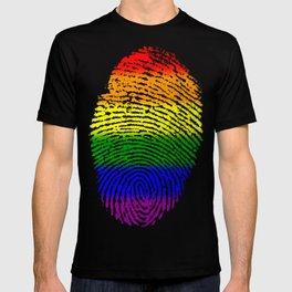 LGBT Pride Fingerprint (Gay Pride) T-shirt