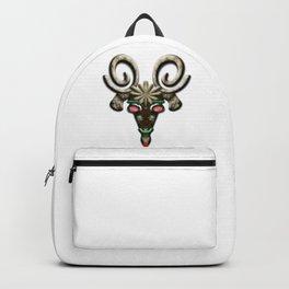 Angry Christmas Reindeer Backpack