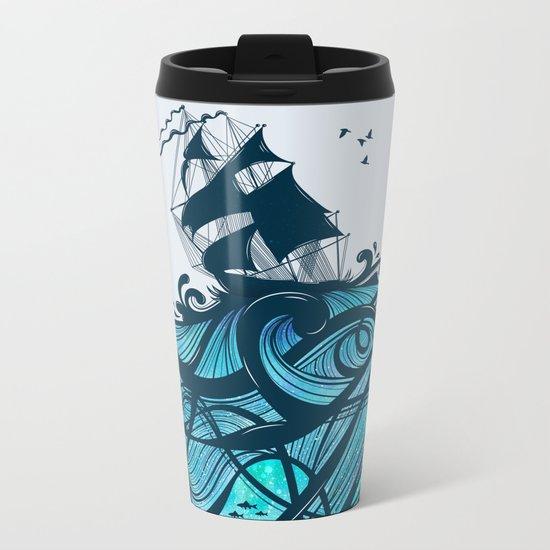 Upon The Sea Metal Travel Mug
