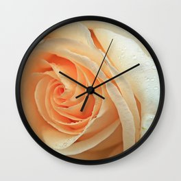 Pale Peach Rose Wall Clock