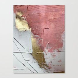 Darling: a minimal, abstract mixed-media piece in pink, white, and gold by Alyssa Hamilton Art Canvas Print
