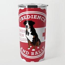 Obedience and Rally Badge Travel Mug
