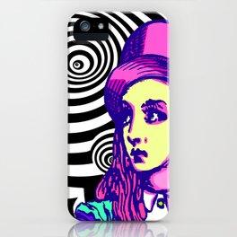 Purple Alice Vortex iPhone Case
