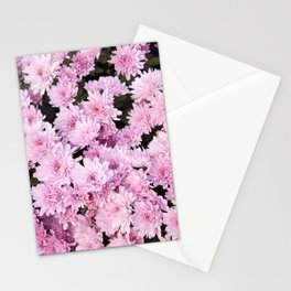 A Sea of Light Pink Chrysanthemums #1 #floral #art #Society6 Stationery Cards