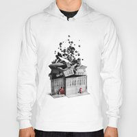 house Hoodies featuring house by Pal Varsanyi