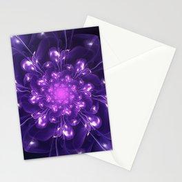 Serenity - Floral Bloom Fractal Stationery Cards