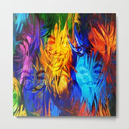 The Mysterious Face Metal Print