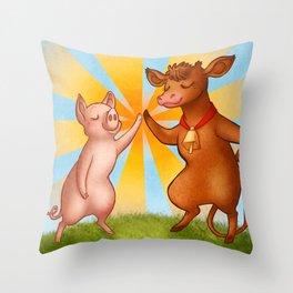 Farmyard Mashup  Throw Pillow