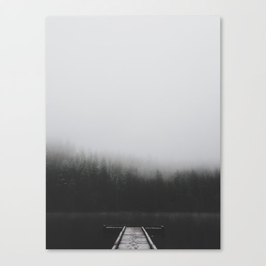 Snow Covered Dock Canvas Print