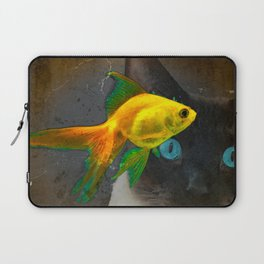 Wishful Thinking - Cat and Fish Art By Sharon Cummings Laptop Sleeve