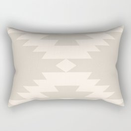 Southwestern Minimalism - White Sand Rectangular Pillow