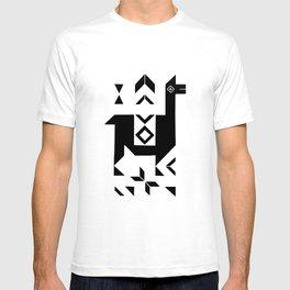 Llamas_Green and WarmGray T-shirt