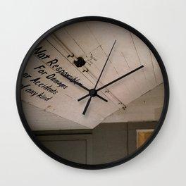 Not Responsible Wall Clock