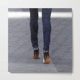 Excess Orange Metal Print