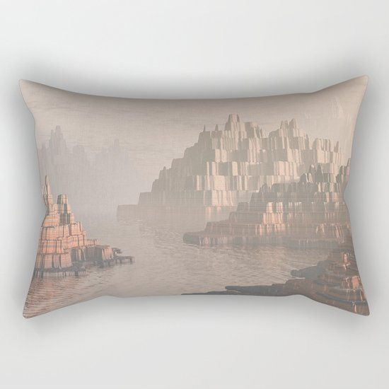 Canyon Landscape With River Rectangular Pillow