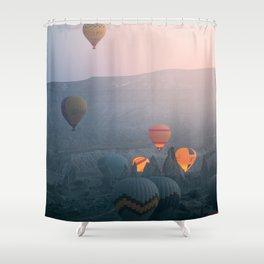 Balloons over Cappadocia Shower Curtain