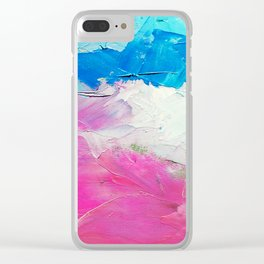Colorful Oil Painting Clear iPhone Case