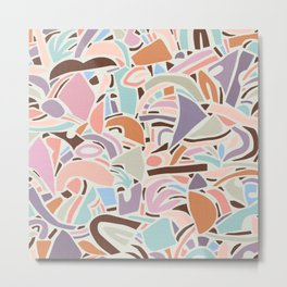 Contemporary Shapes N.02 / Vintage Abstraction Metal Print