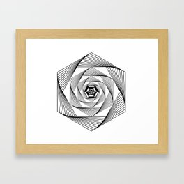 Machine Inside Hexagon Framed Art Print