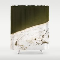 ice Shower Curtains featuring Ice by Margheritta