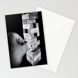 Jenga in Monochrome Stationery Cards