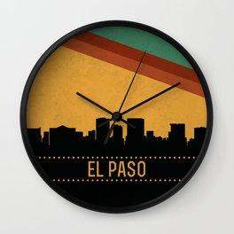 El Paso Skyline Wall Clock