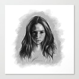 """""""Gooverly"""" Demon Gray Drawing Canvas Print"""
