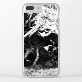 The enchanted fallen tree Clear iPhone Case