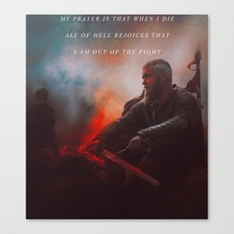 I Am Out Of The Fight Canvas Print