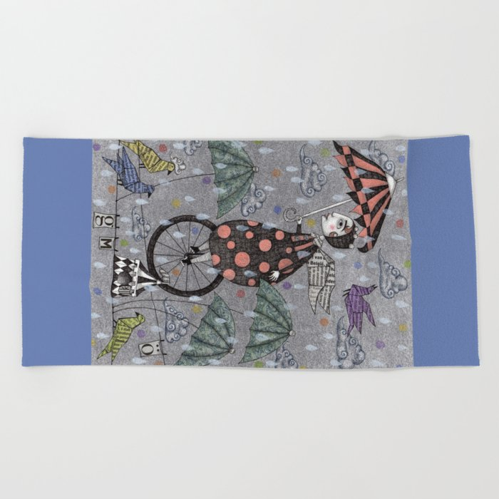 Rainbirds Beach Towel