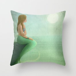 Mermaid Watch Throw Pillow