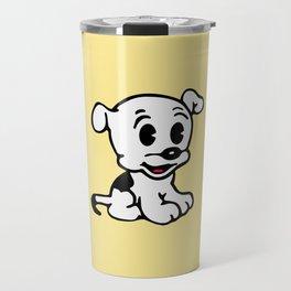 Pudgy, Mrs Boop Puppy companion, Design for Wall Art, Prints, Posters, Tshirts, Men, Women, Kids Travel Mug