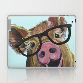 Cute Pig, Pig Art, Farm Animal Laptop & iPad Skin