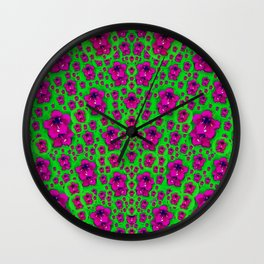 Fantasy Valentine in floral love and peace time Wall Clock